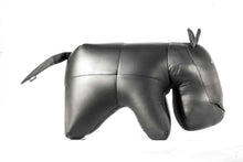 Load image into Gallery viewer, Hippo Ottoman Genuine Leather