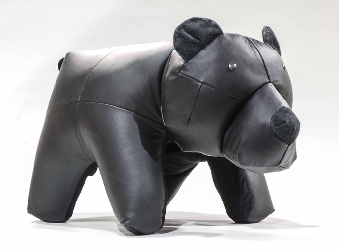 Bear Ottoman Genuine Leather