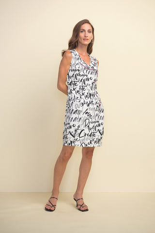 Joseph Ribkoff SS21 - Graffiti Print Sleeveless Dress (Style 211309)