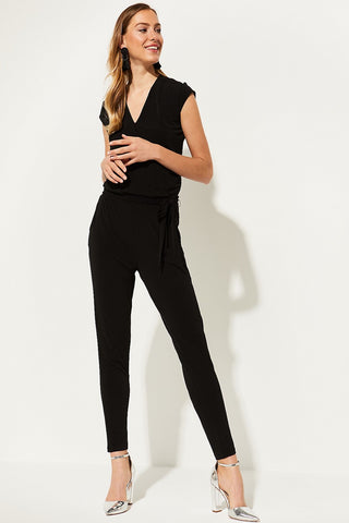 Comma Sequin Bodice Black Jumpsuit
