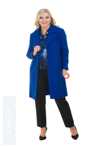 Avalon Royal Blue Revere Wool Coat