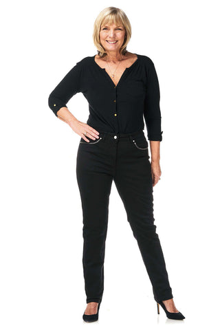 Pinns Black Super Stretch Jeans (Style 383T)