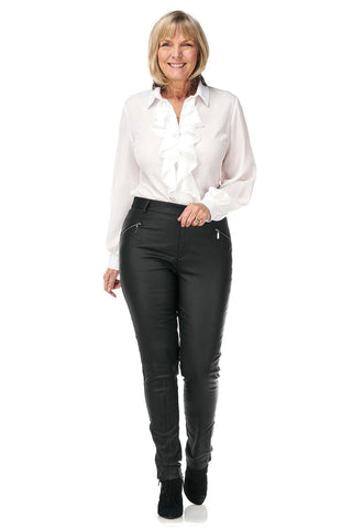 Pinns Leather Look Trousers (Style 429T)