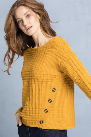 Bianca Mustard Cable Knit (Rike 8354)