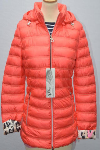 Barbara Lebek Coral Light Padded Summer Jacket with Hood
