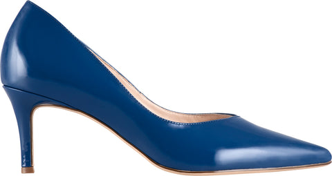 Hogl Pointed Patent Toe Shoes in Ocean Blue