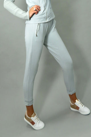 DECK Slate Grey Joggers with Drawstring Waist (814136)