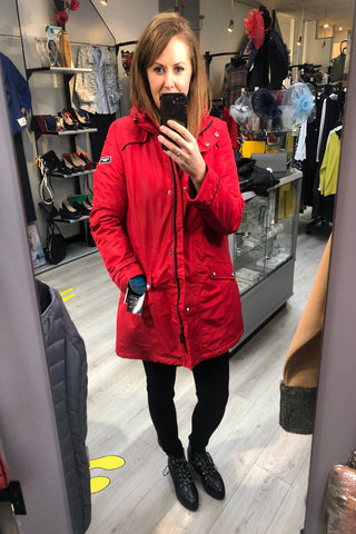 Norman Red Raincoat