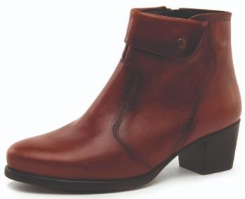 Desiree Tan Ankle Boots with Stud Detail (Style Diane Sienna)