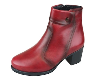Desiree Ox Blood Ankle Boots with Stud Detail (Style Diane Tosca)