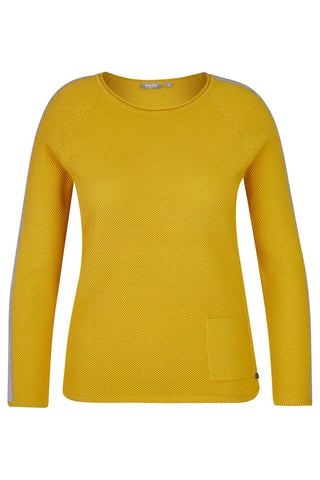 Rabe Mustard Knit with Silver Studding & Lurex Detail (Style 45-021600)