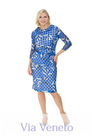 Via Veneto Royal Blue Dress (Style V3428)