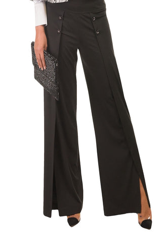 Watercolours Black Dress Trousers (Style W109)