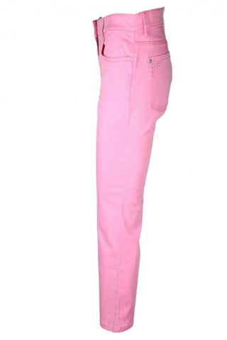 Zerres Carla White Stretch Jeans with Studded Detail