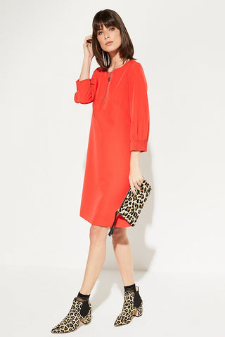 Comma Shift Dress with 3/4 Sleeves
