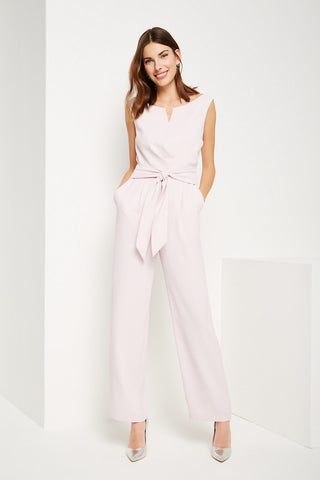 Comma Blush Pink V Neck Jumpsuit
