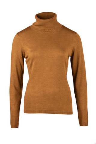 Zilch Toffee Coloured Bamboo Polo Neck (Style 02BAS30.030)