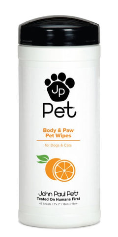 John Paul Pet Full Body and Paw Dog Wipes
