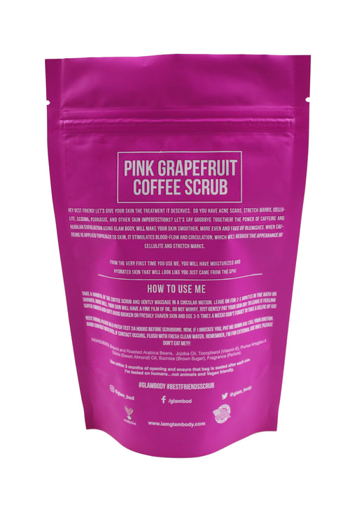 PINK GRAPEFRUIT BODY SCRUB FOR THE GLOW