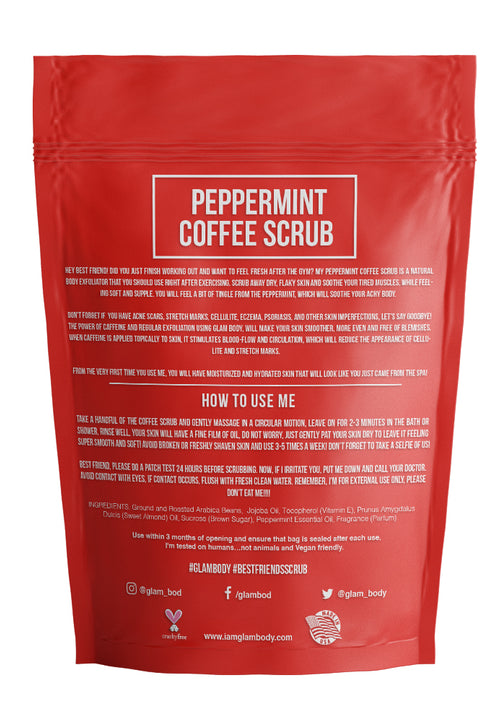 PEPPERMINT BODY SCRUB FOR MUSCLES