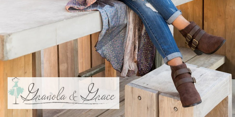 Granola and Grace Wears Dallas Boots with Style!