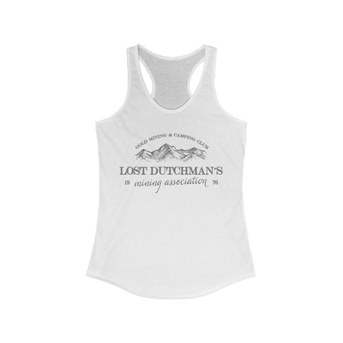 LDMA New • White Women's Ideal Racerback Tank - Gold Prospectors Association of America