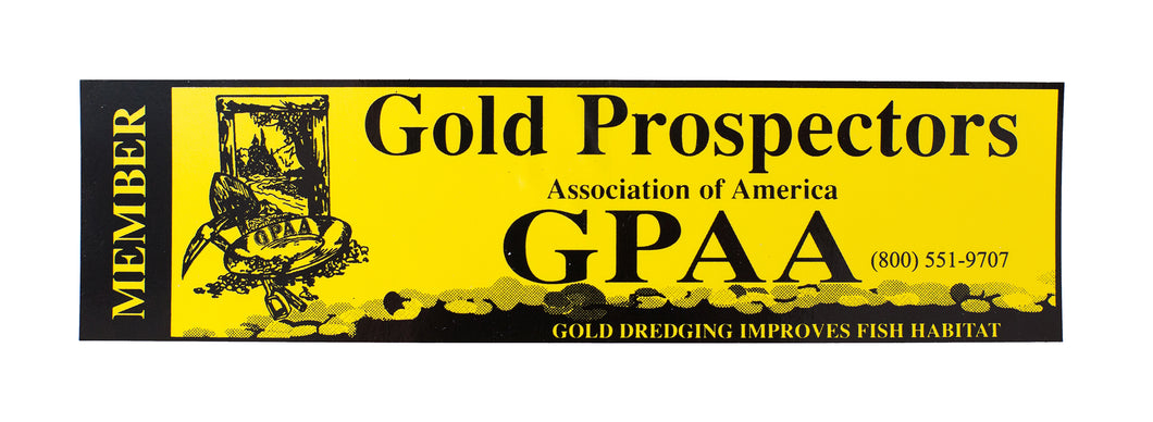 GPAA Bumper Sticker - Gold Prospectors Association of America