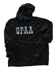 GPAA Black Pullover Hoodie - with zipper compartment - Gold Prospectors Association of America