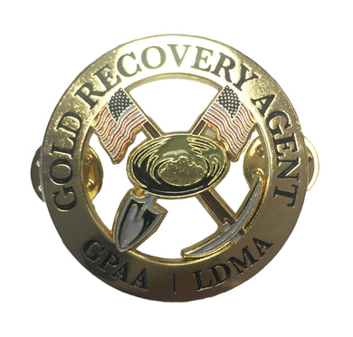 GPAA/LDMA Gold Recovery Agent Pin - Gold Prospectors Association of America