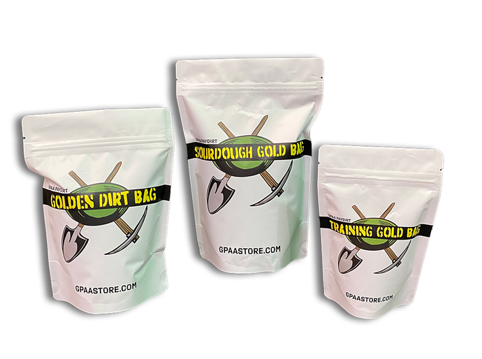 GPAA Paydirt Gold Bag Bundle (All 3) - Gold Prospectors Association of America