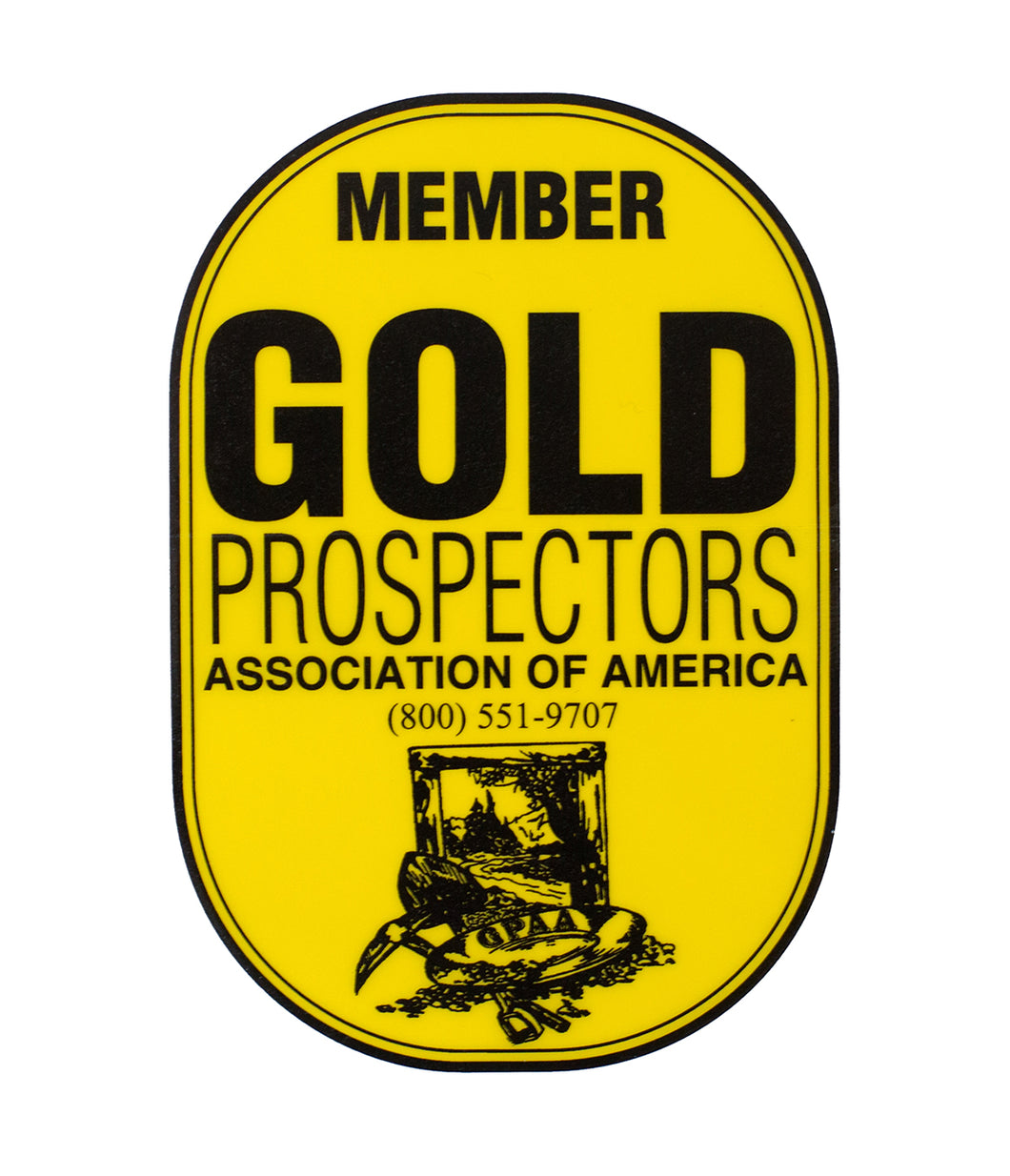 GPAA Window Decal - Gold Prospectors Association of America