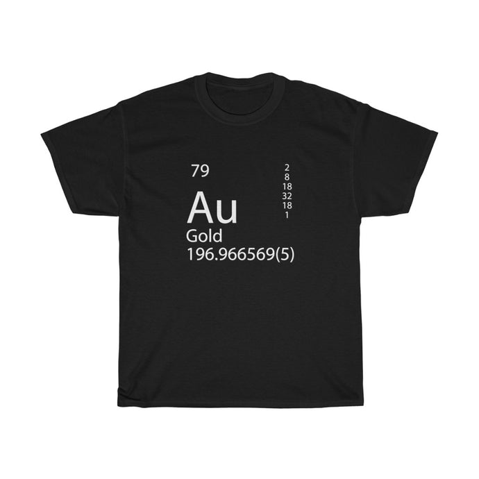Gold (Au) Element - Unisex Heavy Cotton Tee - Gold Prospectors Association of America