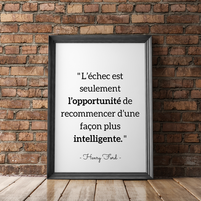"Affiche citation Henry Ford – ""L'échec…"""