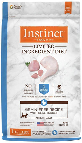 Nature's Variety Instinct Limited Ingredient Diet Adult Grain Free Recipe with Real Turkey Natural Dry Cat Food
