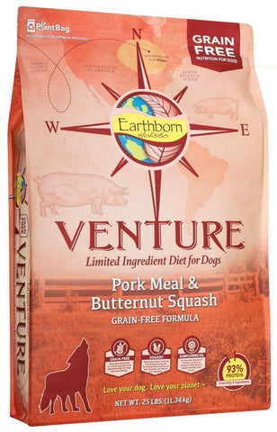 Earthborn Holistic Venture Grain Free Pork Meal and Butternut Squash Dry Dog Food
