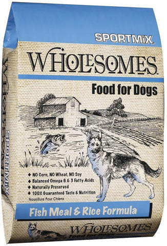 SPORTMiX Wholesomes Fish Meal & Rice Recipe Dry Dog Food
