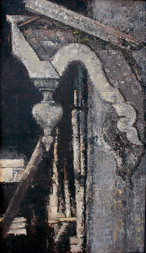 """Architectural Ornament""- Original oil painting, 24"" x 15"" - SarahHultinArt"