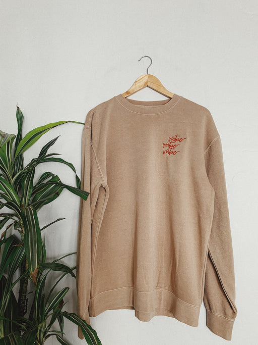 Embroidered Virtue Sweatshirt