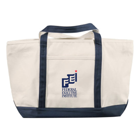FEIAA 18 oz. Cotton Canvas Premium Zippered Boat Tote