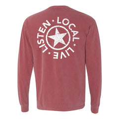 Starr Hill Long Sleeve T-Shirt - Brick Red Back