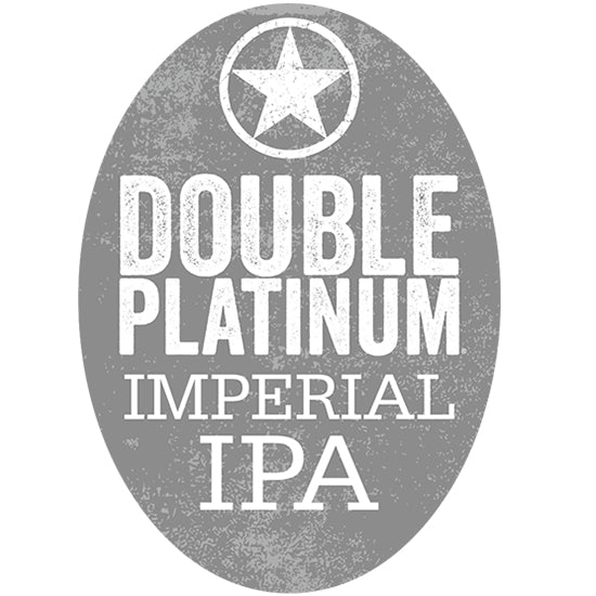 Starr Hill Double Platinum Imperial IPA Tap Handle Badge