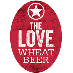 Starr Hill The Love Wheat Beer Tap Handle Badge