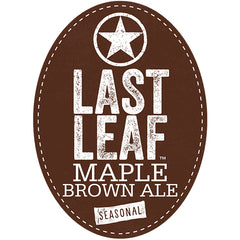 Starr Hill Last Leaf Maple Brown Ale Tap Handle Badge