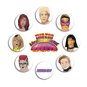 BIG EGG WRESTLING UNIVERSE BUTTON PACK