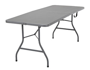 Cosco 6' Signature Series Blow Mold Centerfold Table, Gray