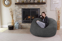 Chill Sack Bean Bag Chair: Giant 5' Memory Foam Furniture Bean Bag - Big Sofa with Soft Micro Fiber Cover - Charcoal