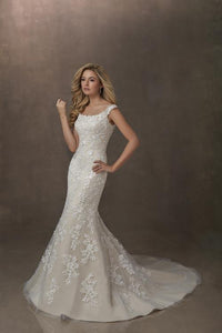 19EL093 Wedding Dress Size 14 Ivory/Cafe