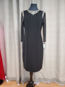 Black Knee Length Dress Size 10