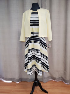 DAN26549M Dress Size 10 Yellow Stripe