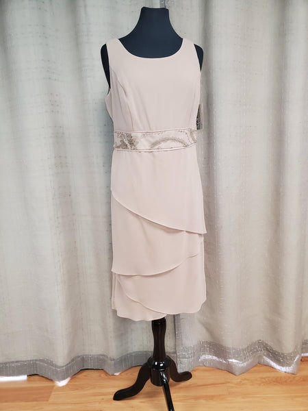 LEB26410 Dress Taupe Size 10